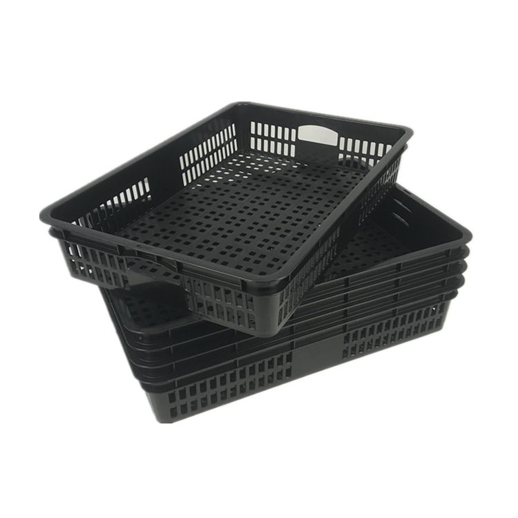 Manufacturer wholesale China cheap stacked plastic vegetables crate for supermarket and stores