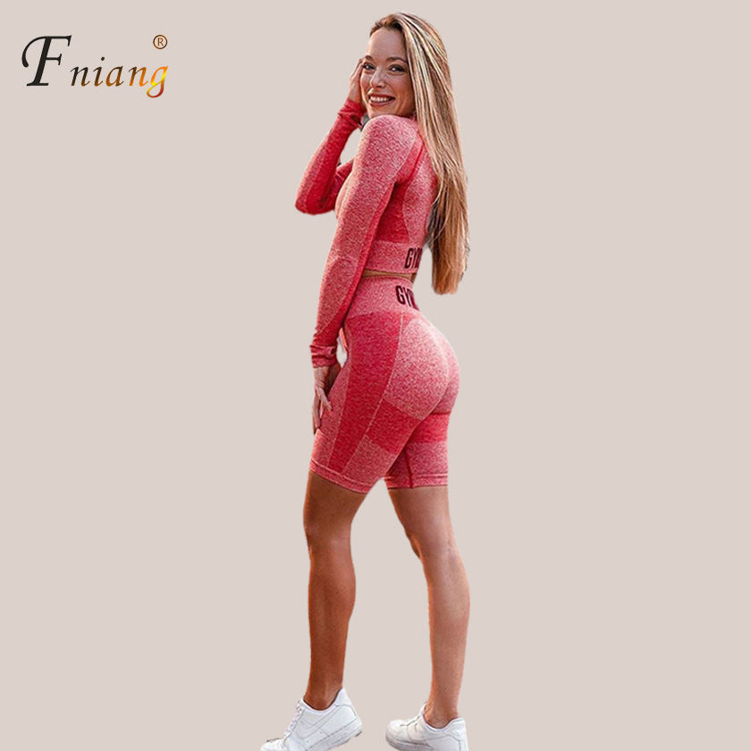 Women Plus-size yoga suit 2020 seamless high waist yoga leggings tights women workout mesh breathable fitness clothing