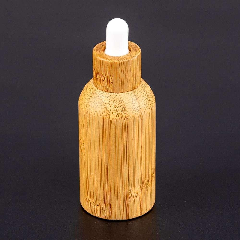 2020 siempre popular de bambú única protección 30ml anti envejecimiento de suero de vidrio de botellas