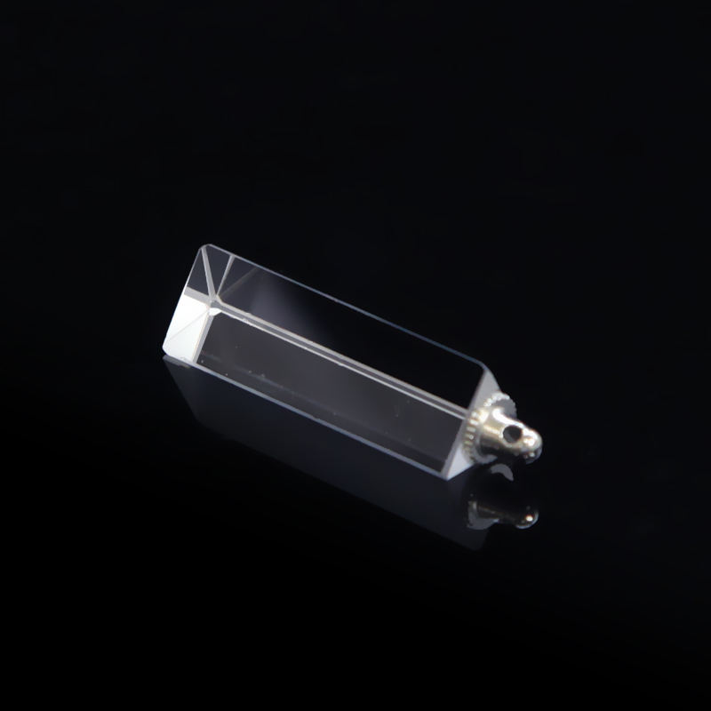 K9 BK7 crystal triangular prism light guide prism with screw