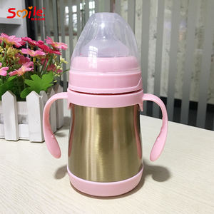 Insulation Cup Vacuum Flask Milk Bottle Baby Thermos Stainless Steel Feeding Bottle With Nipple