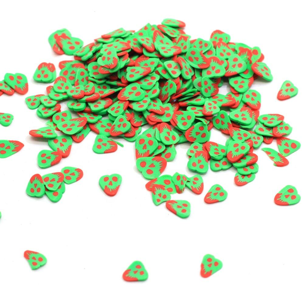 Newest 500g 3D Nail Art Clay Grimace Slices Polymer Hot Soft Clay Sprinkles For DIY Slime Making Nail Stickers Phone Decor