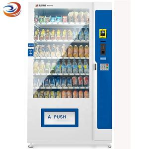 Easy operation drinks snack vending machine for chocolate bars, chips