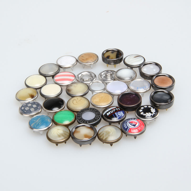 Metal Pearl Prong Ring Snaps Knop Cover