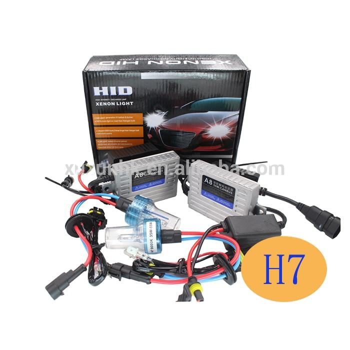 Wholesale hid xenon kit 12v 35w 6000k h7 kit xenon 4300k h7 55w with canbus ballast