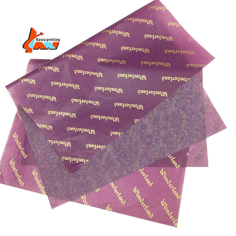 custom designed wrapping tissue paper with logo seidenpapier for clothes gift packaging