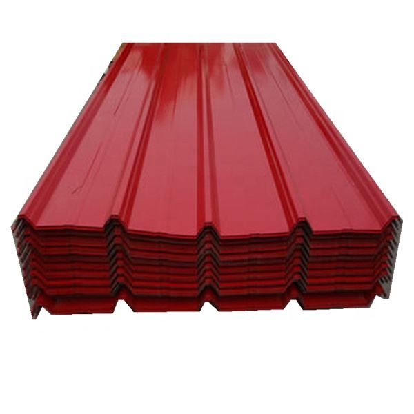 embossed color coated ppgi Corrugated Metal Roofing sheet gi iron plate price