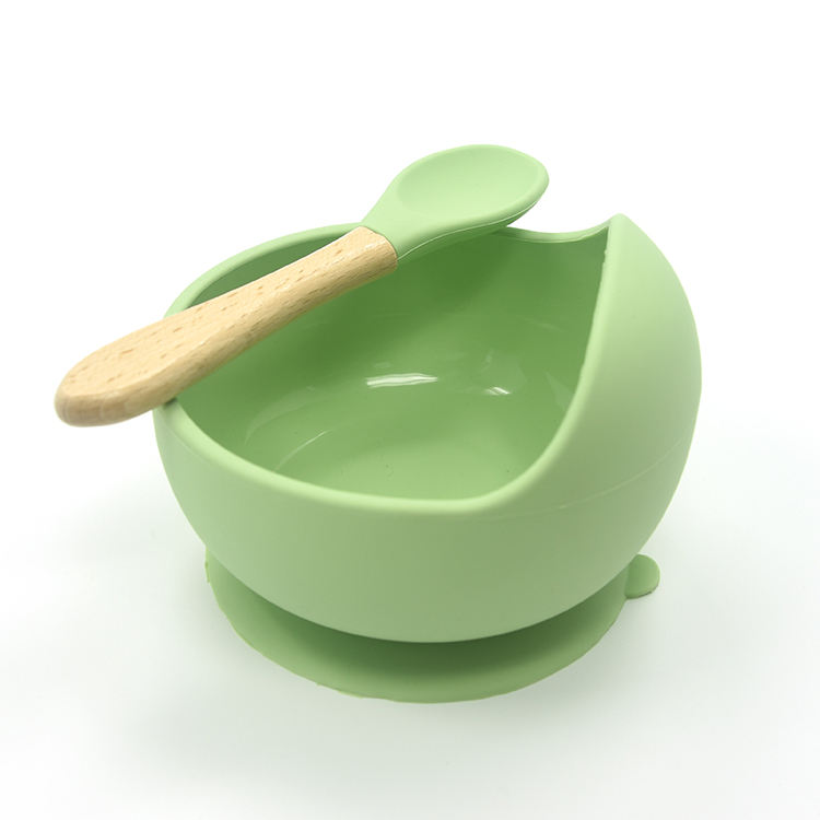 High Quality BPA Free 100% Food Grade Silicone Rubber Baby Feeding Bowl