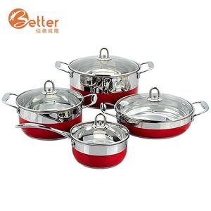 Home Cooking Stainless Steel Cookware Induction Kitchen Cookware Set Cooking Pot