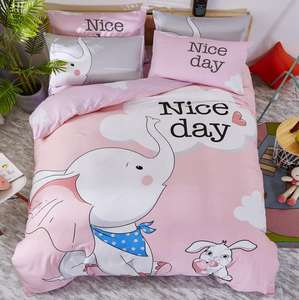 100% Cotton Cute Animal Cartoon Designs Printed Bedding Sets for Children