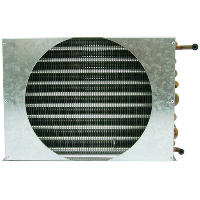 Air cold condenser coil for HVAC refrigeration