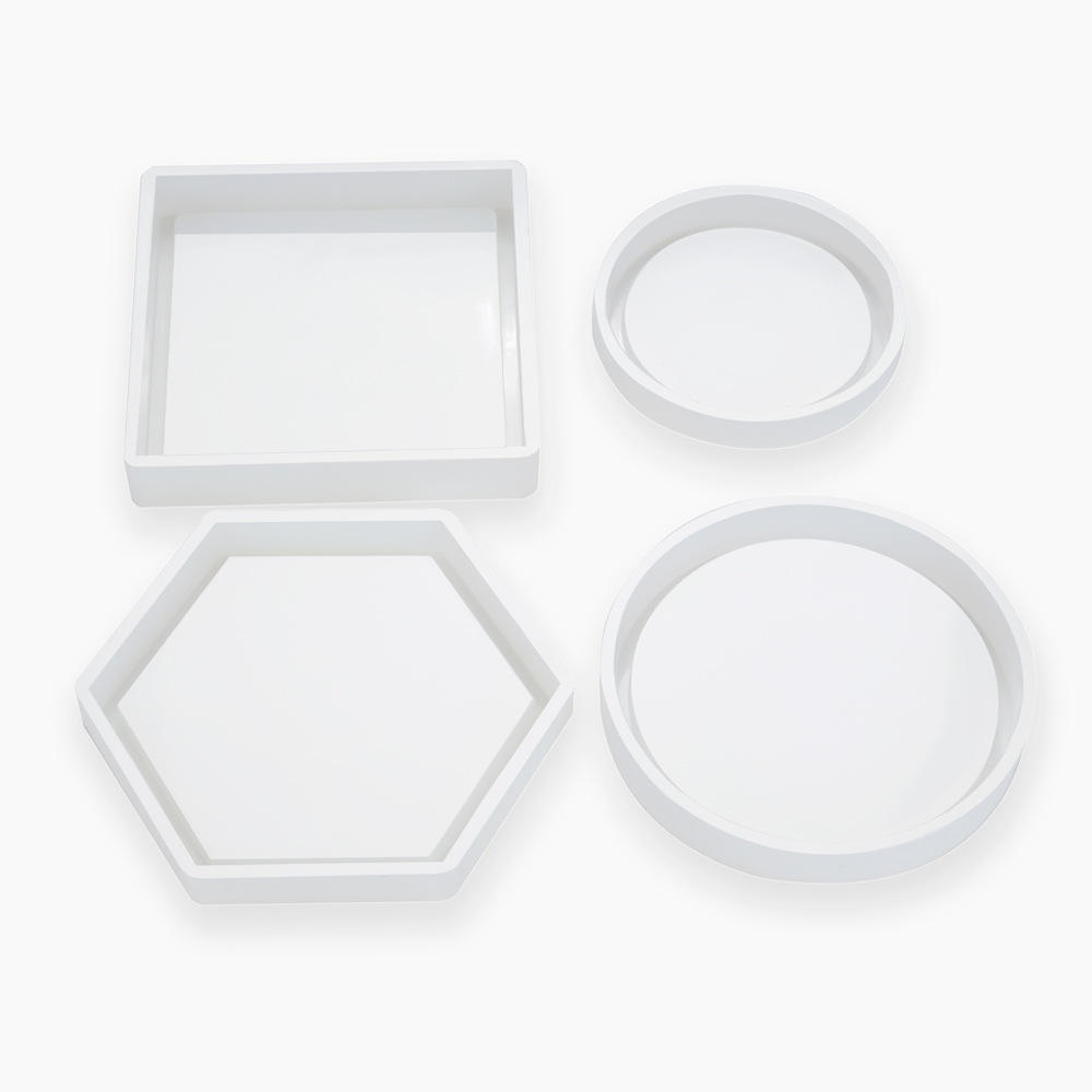 S213 Cup Pads coaster silicone Mold for Resin Epoxy Casting Molds DYI Hexagon craft Making