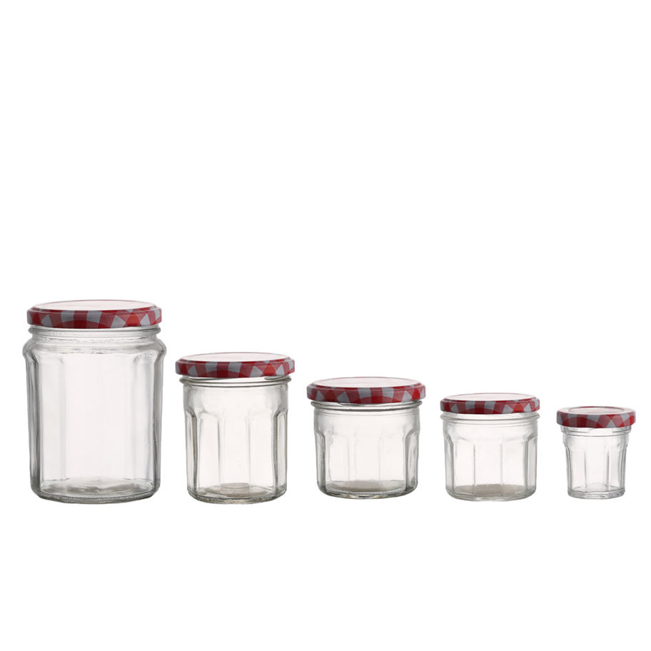 High quality wholesale bonne maman empty clear jam jelly glass jars with lids