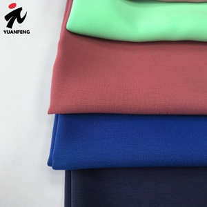 2020 new 100% Polyester peach koshibo plain dyed fabric islamic hijab fabric anti-microbial and Insect-resistant