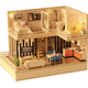 Lovely design kids DIY furniture set mini wooden dollhouse toys with furniture and accessories