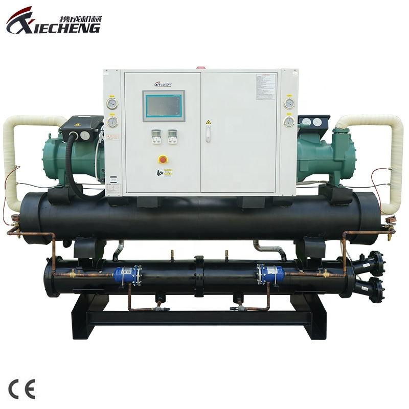 High Effective Cooling Capacity Water Cooled Screw Chiller For Injection Factory