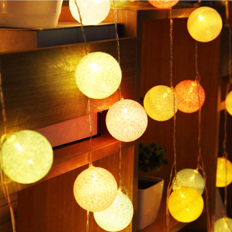 Moon Shape String Lights Led Cotton Colorful Ball Light