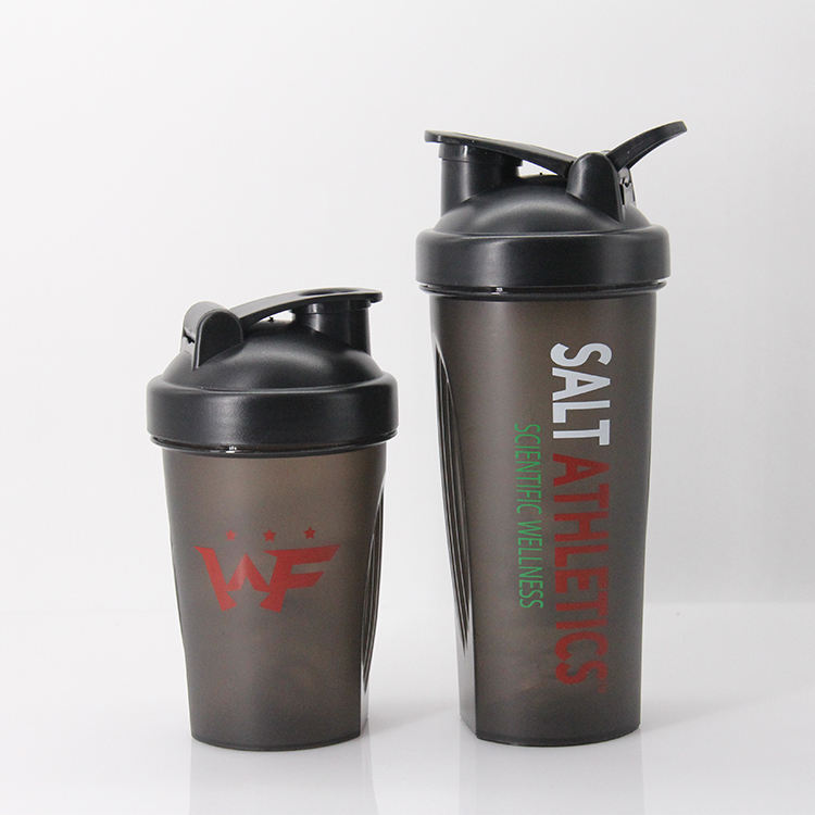 BPA free PP plastic sports 600ml protein nutrition water bottle shaker