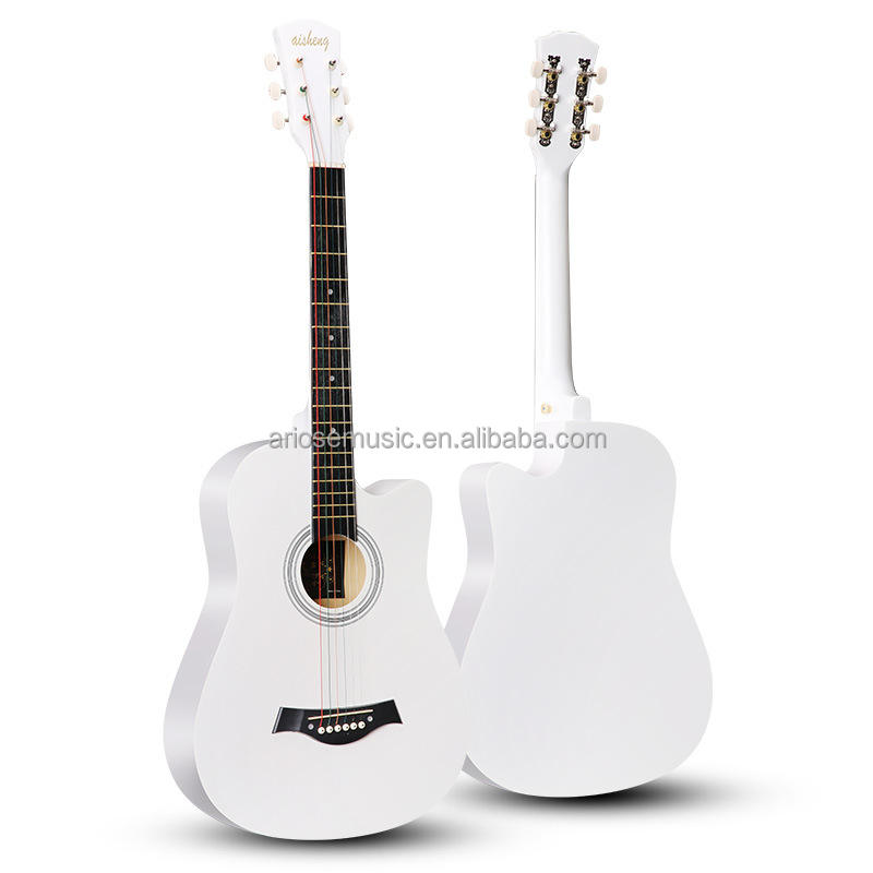 Manufacturer direct sale OEM service cheap handmade guitar 38 inch acoustic guitar wholesale