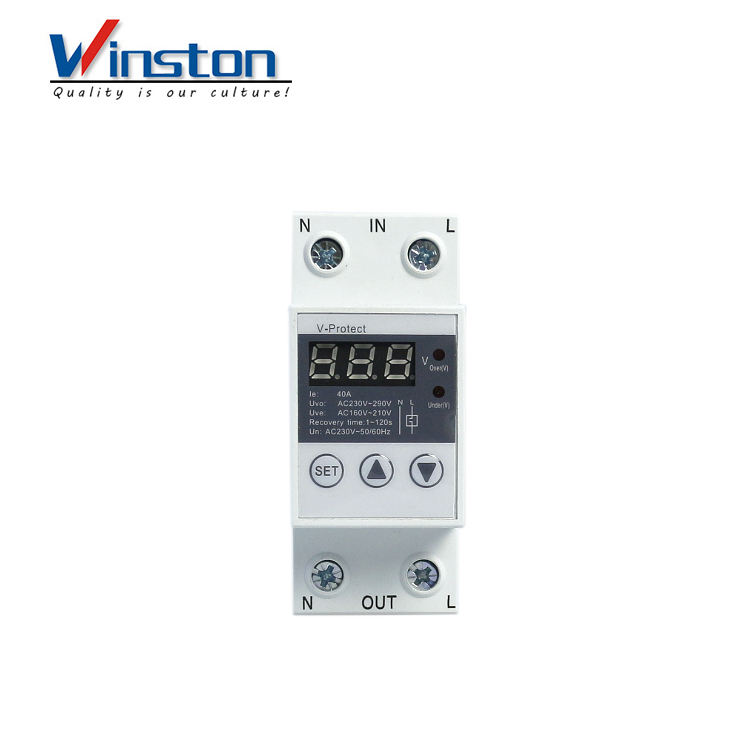 Adjustable Intelligent digital Over and Under voltage Protection device stabilizers with over voltage protector