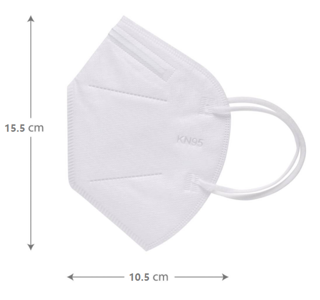 CE Disposable Nonwoven Particle Filtering KN95 Folding Half Face Mask With Good Elastic Earloop