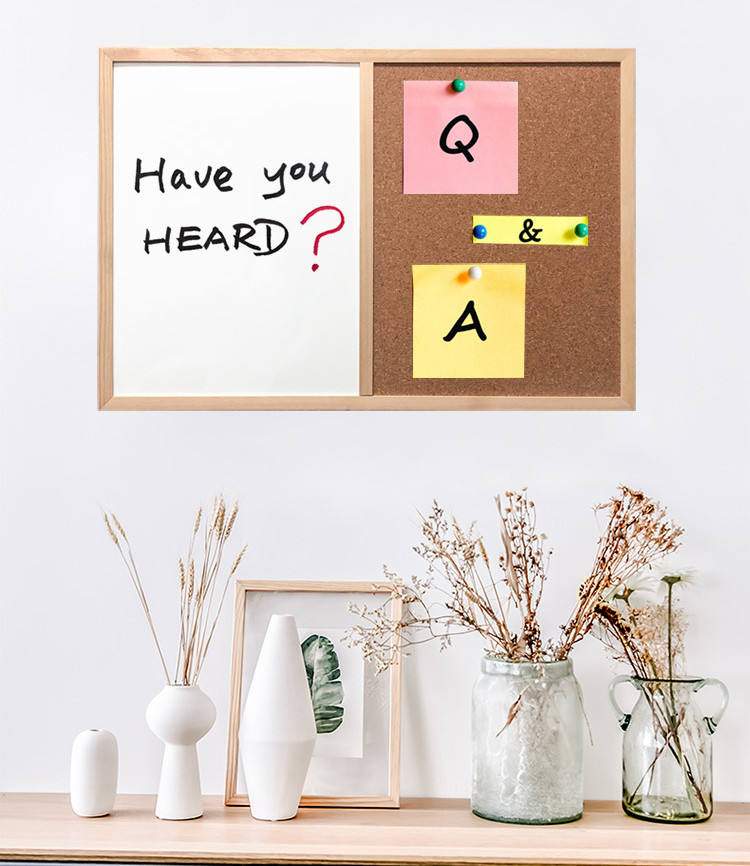 Combination White Board&Bulletin Cork Whiteboard Magnetic,Combo Dry Erase with Aluminum Frame Hanging Message Boards