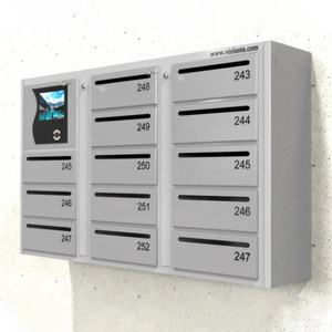 Smart electronic mail post box for multyfamily houses