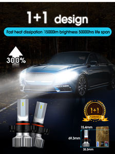 Compact Design Aurora F2 H16 15000LM Fan Cooling System Led Headlight Bulb For Truck