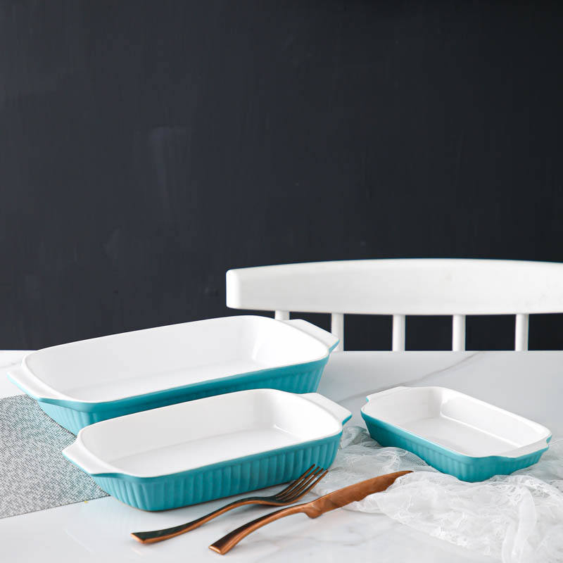 Wholesale high quality porcelain baking dish cheap kitchen ceramic bakeware