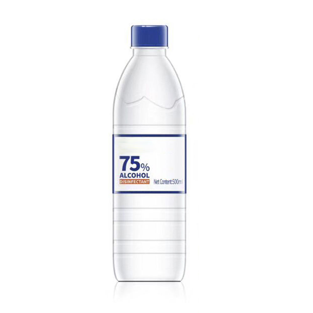Chemical liquid 75% 500ml bottle ethyl alcohol