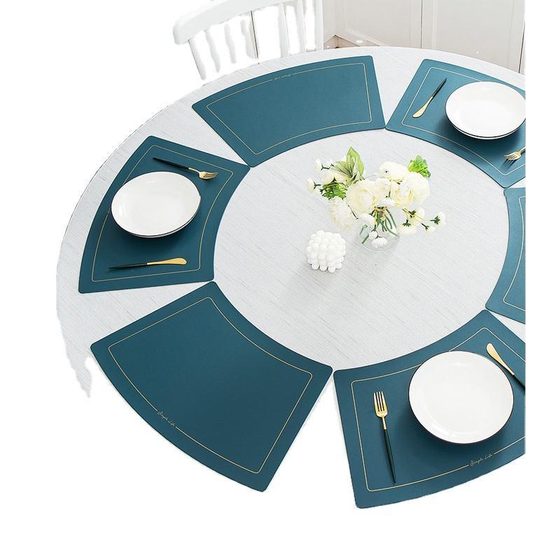 Washable Place Mats 30 x 45cm 3mm 4er Set Felt Table Mats Colour: Red