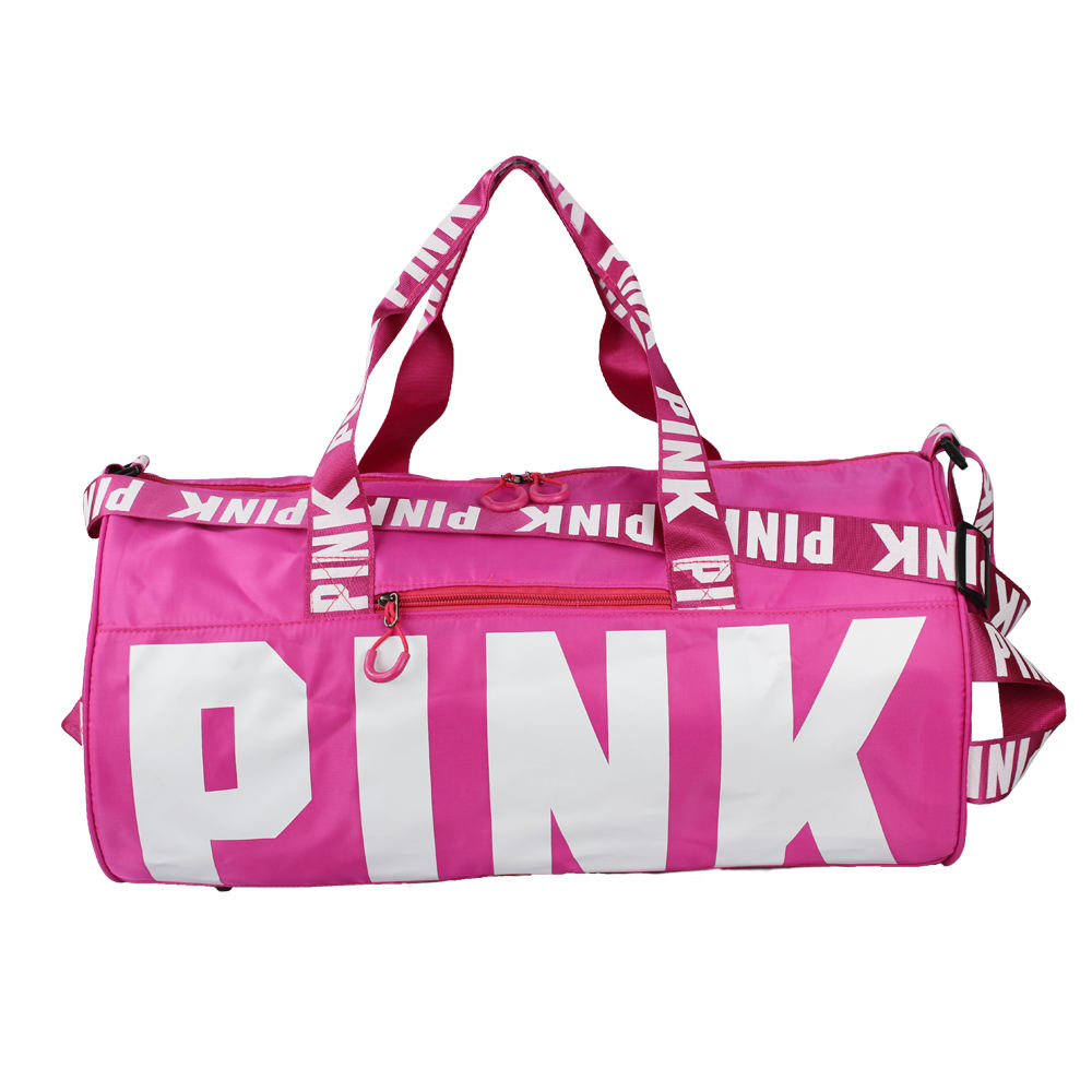 Custom Young Outdoor Gym Bag Nylon Women Pink Sports Bags For Fitness Men Sport Travel Handbag/Shoulder Bags Factory Cheap price
