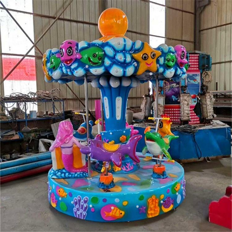 China popular amusement kiddy carousel indoor mini carousel rides for park rides