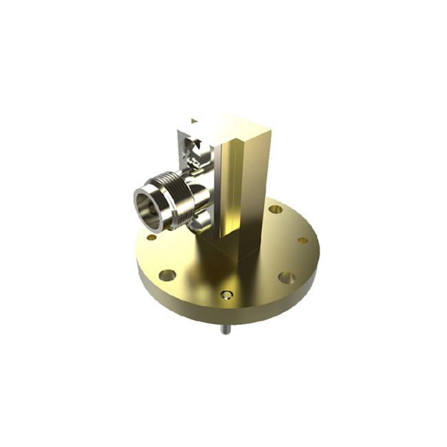 59.6 Ghz WR18 (BJ500) Vòng Mặt Bích Để 1.85 Mm Nữ Ống Dẫn Sóng Để <span class=keywords><strong>Coax</strong></span> Adapter