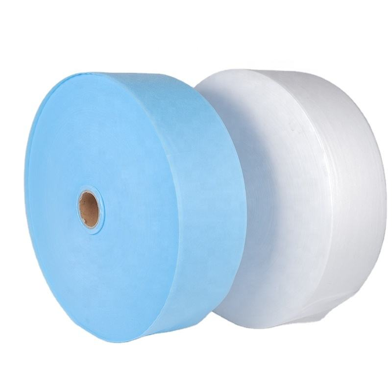 25gsm 100% PP SS white/blue nonwoven fabric for face mask
