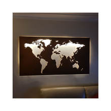Custom Design High Quality Metal World Map Wall Mounted Laser Cut Weathering Steel World Map