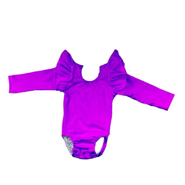 ss 1028 newborn baby winter light purple boutique ruffle long sleeve leotard china cheap baby girl dance bodysuit wholesale