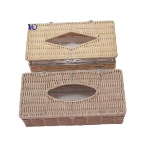 Handmade Iron rattan tissue paper box napkin container holder