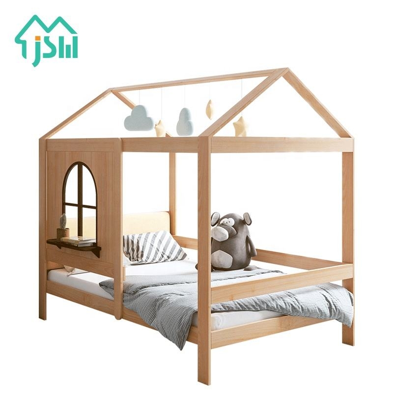 Small House Design Children Bed Firm Furniture Solid Wood Kids Bedroom Bed