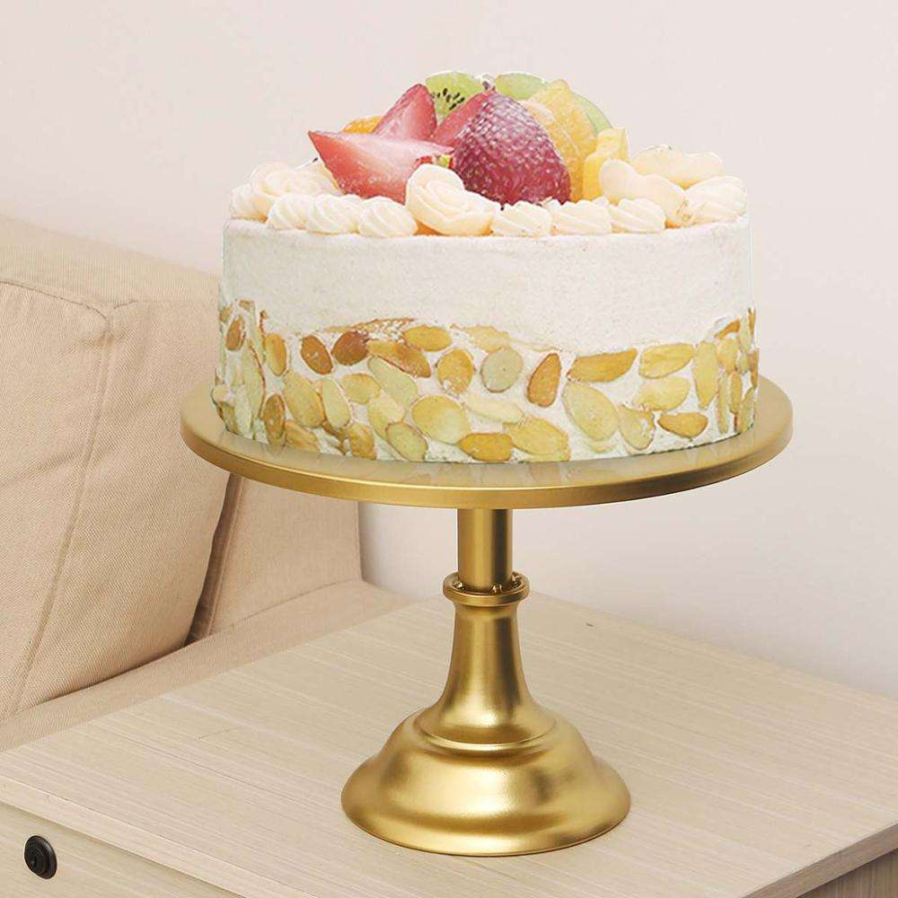 Large 30cm/12 Inch Iron Round Cake Stand Pedestal White Dessert Holder Wedding Party Birthday Tea Cake Stand