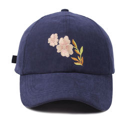 Wholesale high quality suede 6 panel cap custom embroidery baseball cap
