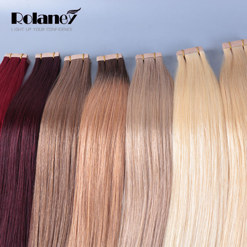 Free Sample Wholesale Cheap European 100% virgin human hair extensions in dubai double sided remy cuticle tape hair