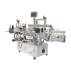 Fully automatic round bottle two double sides labeling machine