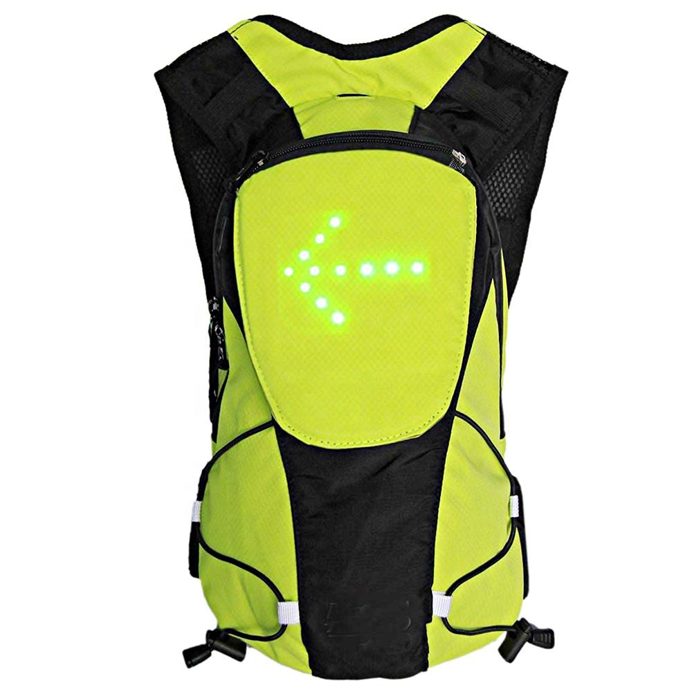 LED Turn Signal Light Reflective Vest Backpack Waist Pack Business Travel Laptop School Bag Sport Outdoor Waterproof for Safety