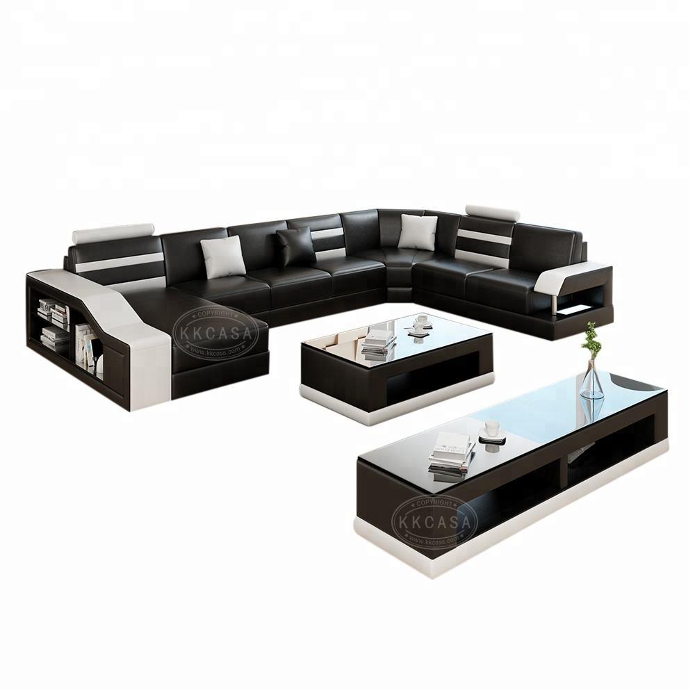 Fabrika toptan Modern U şekilli koltuk takımı kanepe setleri oturma odası çağdaş mobilya TV standı oturma odası mobilya
