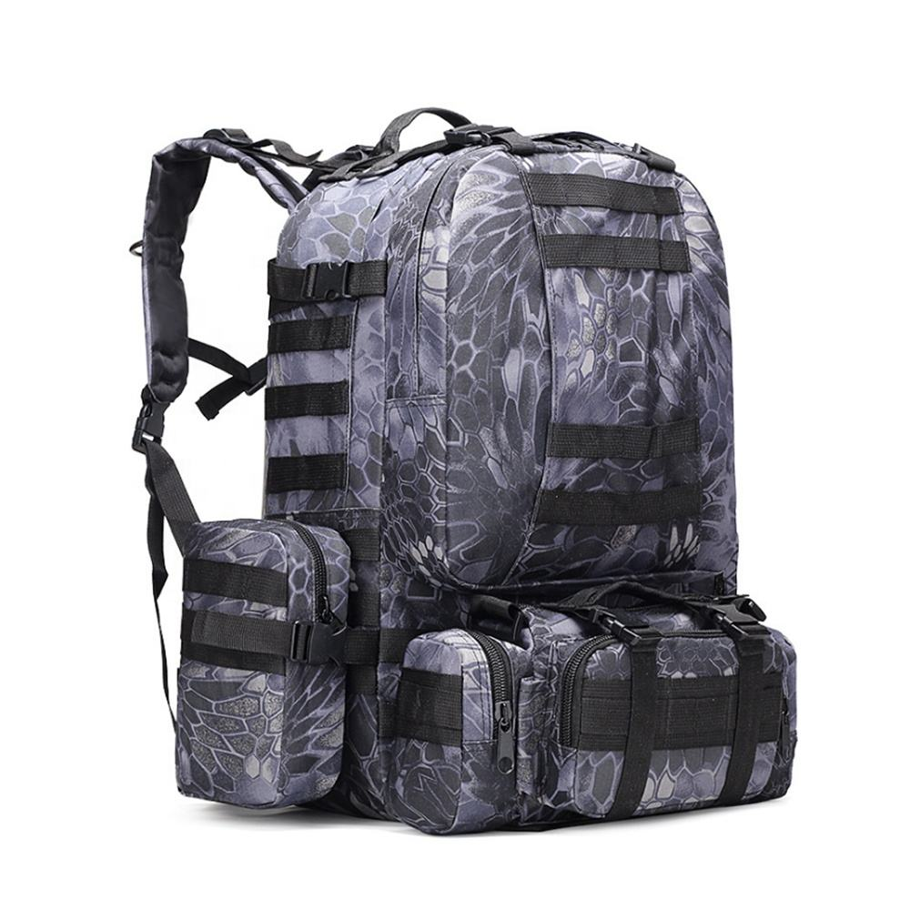 Doublesafe Custom Waterproof Polyester Military Backpack Tactical Hiking Camping Mountaineering Large Army Bag For Unisex