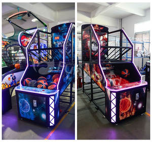 Fancy Orange Green Blue Colors Shooting Street Basketball Arcade Game Machine