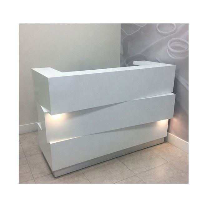 modern artificial stone LED Hotel/hospital/beauty Reception counter salon reception desk