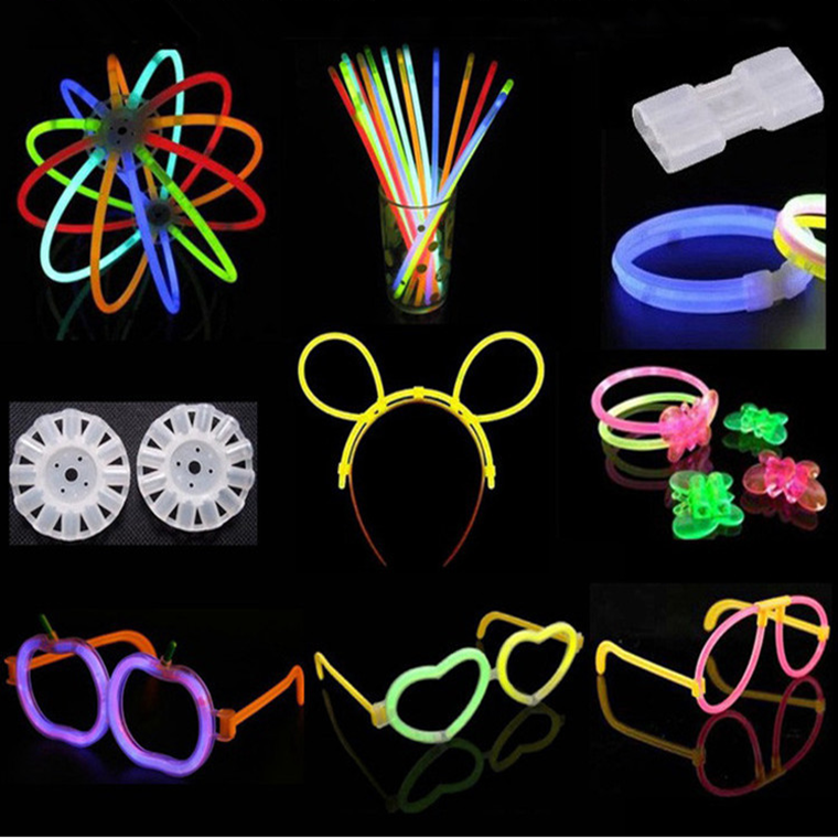 factory wholesale party sales multicolor beautiful glow in the dark light glow stick