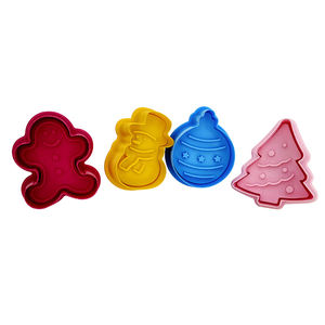 Christmas Custom Plastic Cookie Cutter kitchen baking tools